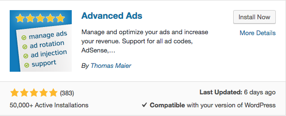 Install Advanced Ads