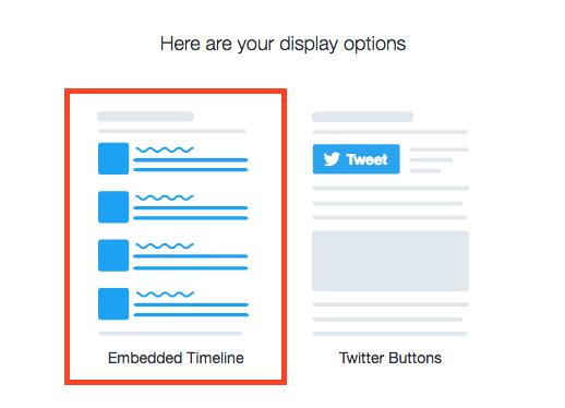 Choose Embedded Timelines