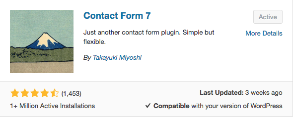 Contact Form 7 WordPress plugin