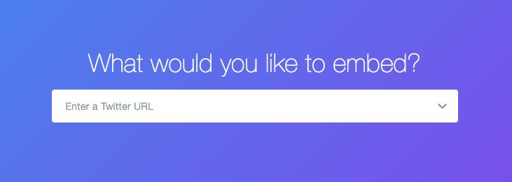 Enter your Twitter timeline URL