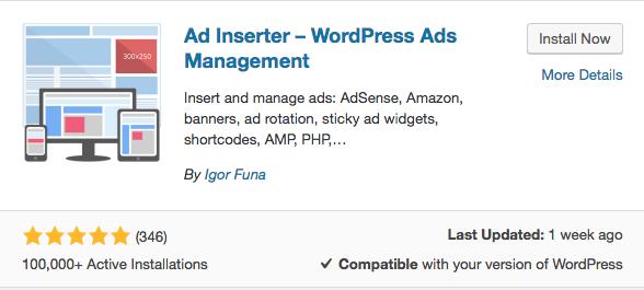 Install Ad Inserter plugin