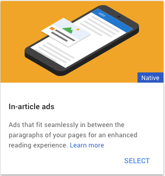Select In-article ads