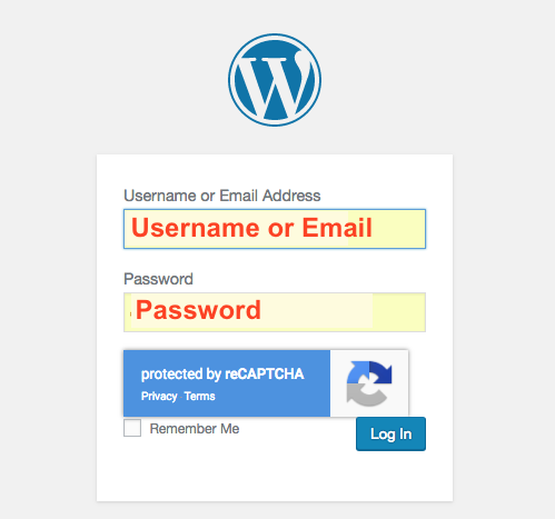 WordPress login with Invisible reCAPTCHA